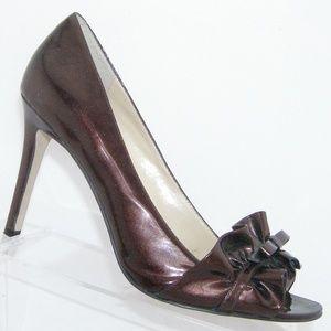 Enzo Angiolini 'Mielee' purple patent heels 9M